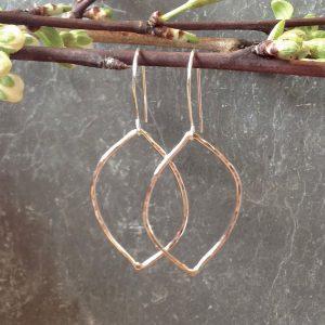 waves - sterling silver earrings