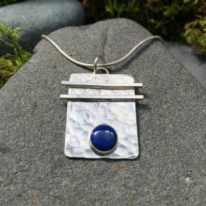asian flair pendant - blue gemstone
