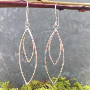 flowering goddess sterling silver earrings