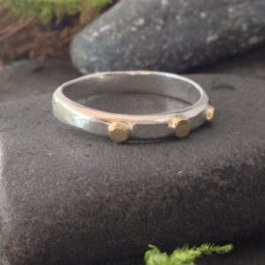 Saucy Jewelry golden accents ring