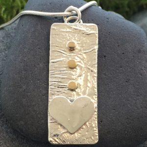 golden love tribe pendant