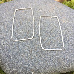 rectangular slip in earrings