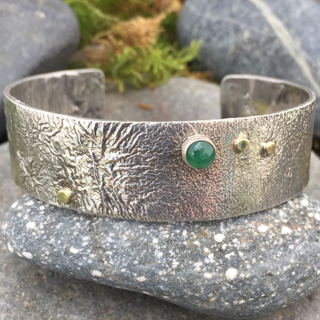 large reticulated cuff by Saucy Jewelry