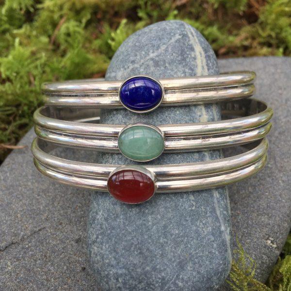 sister cuff bracelets - various gemstones