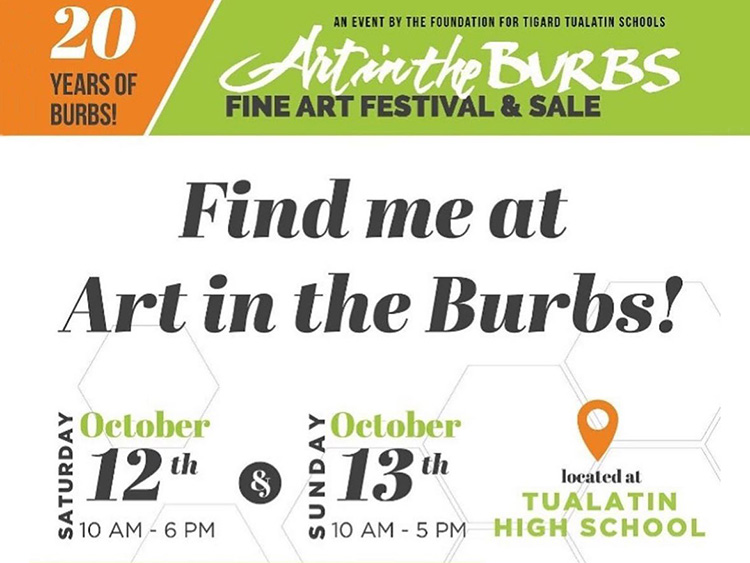 Art in the Burbs craft show flyer